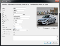 Fleet Software - Vehicle Information